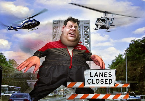 Governor Christie Traffic Lane Political Scandal Comedic Picture